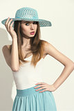 sexy spring woman with hat