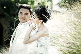 Wedding couple show concept of love