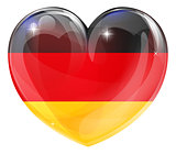 German flag love heart