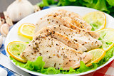 Chicken breast with lemon and garlic