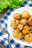 Potato with bacon and herbs