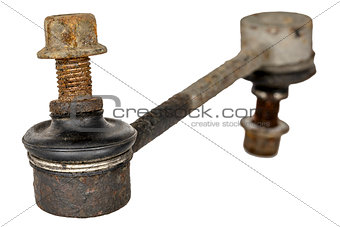 Old and rusty stabilizer link
