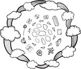 Cloud computing illustrations