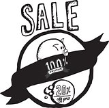 Sale badge illustration