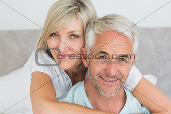 Closeup portrait of a loving mature couple