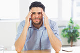 businessman suffering from headache