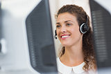 customer service agent working in call center