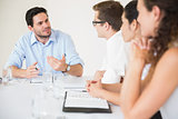 Businessman discussing in meeting