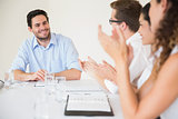 Confident businessman in meeting