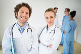 Portrait of smiling doctors
