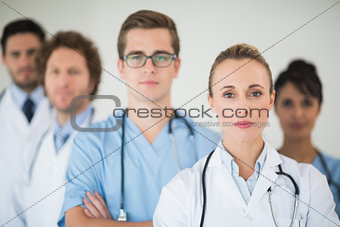 Portrait of confident medical team