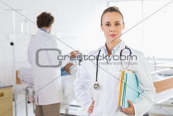 Portrait of confident doctor