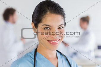 Portrait of confident nurse