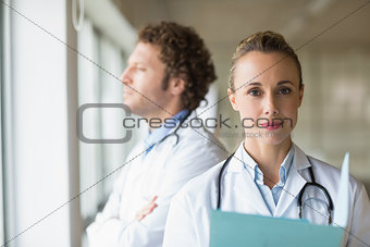 Portrait of confident female doctor