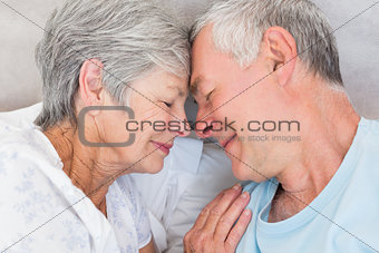 Romantic couple in bed