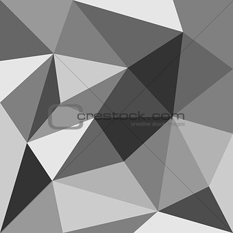 Grey triangle vector background or seamless pattern.