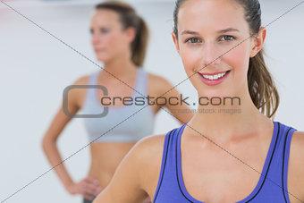Portrait of fit young women in sports bra