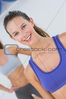 Portrait of fit women in sports bra