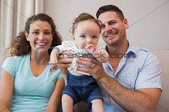 Happy parents with cute baby boy