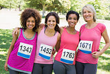 Female participants of breast cancer marathon