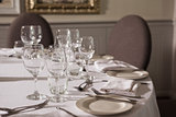 Table set for dinner service