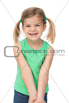 Adorable little girl smiling at camera