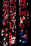 Stained glass of the dom of Xanten