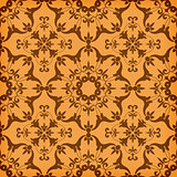 Vector Seamless  Golden Floral  Pattern