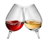 Moving wine in two wineglasses