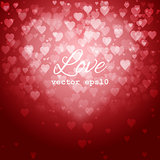 Festive blurred background with bokeh form a heart.