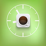 Background concept of cup of coffee