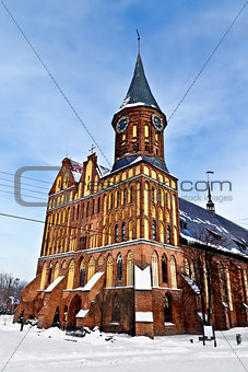 Koenigsberg Cathedral - Gothic temple of the 14th century. Kaliningrad (until 1946 Koenigsberg), Russia