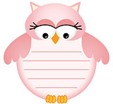 Pink Baby Owl with Label