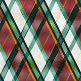 Rhombic tartan green, white and brown fabric seamless texture
