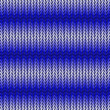 Design seamless blue horizontal knitted pattern. Thread textured