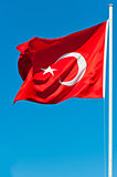 developing in the wind flag of Turkey