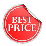Best price red circle label