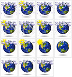3D  Earth Planet for  weather report