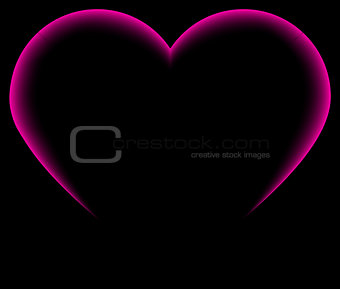 abstract heart silhouette