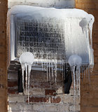 Frozen air conditioning with icicle