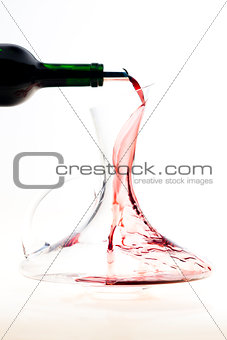 carafe with red wine