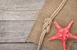 Starfish with ship rope and burlap