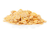 Fresh corn flakes heap