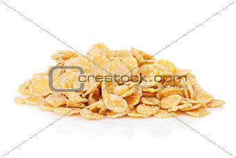 Fresh corn flakes heap
