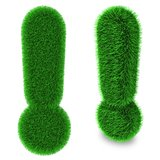Exclamation mark made of grass
