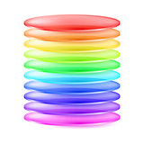 Abstract colorful cylinder