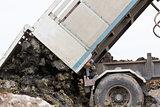 Dump truck dumping