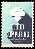 Cloud Computing on Light Blue in Flat Design.