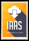 IAAS Concept on Yellow in Flat Design.
