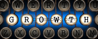 Growth on Old Typewriter's Keys.